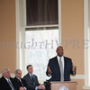Judge Eddie Loren Williams addresses those gathered for the swearing-in of new council members at Newburgh's City Hall on Saturday, January 11, 2014. Hudson Valley Press/CHUCK STEWART, JR.