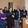 Orange County Legisaltor James Kulisek is acknowledged during the swearing-in of council members Karen Mejia, Genie Abrams, Regina Angelo and Cindy Holmes, at Newburgh's City Hall under the new ward system on Saturday, January 11, 2014. Hudson Valley Press/CHUCK STEWART, JR.