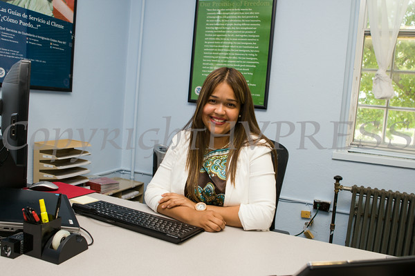 Supervisor Immigrations Services Officer Yvelisse Santos will bring her 10 years of experience to the U.S. Citizenship and Immigration Services Customer Service Center's new location at the Newburgh Armory Unity Center in Newburgh, NY starting on July 18. Hudson Valley Press/CHUCK STEWART, JR.