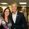 Annette Marzan and US Rep Sean Patrick Maloney at the U.S. Citizenship and Immigration Services Customer Service Center open house at the Newburgh Armory Unity Center on Saturday, July 12, 2014 in Newburgh, NY. Hudson Valley Press/CHUCK STEWART, JR.