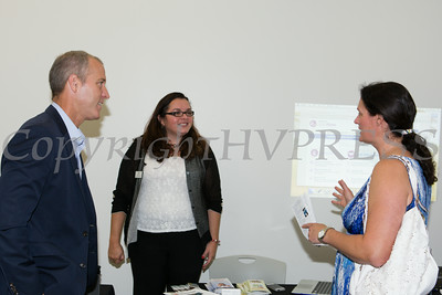 "US Rep Sean Patrick Maloney speaks with Grace Riario and Mary Roth after he hosted ""When Women Succeed, America Succeeds"" Forum and Resource Fair Saturday, July 26 at the Orange County Emergency Services Center in Goshen, NY. Hudson Valley Press/CHUCK STEWART, JR."
