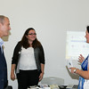 """US Rep Sean Patrick Maloney speaks with Grace Riario and Mary Roth after he hosted """"When Women Succeed, America Succeeds"""" Forum and Resource Fair Saturday, July 26 at the Orange County Emergency Services Center in Goshen, NY. Hudson Valley Press/CHUCK STEWART, JR."""