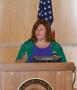 "Michele McKeon offers remarks to those present for US Rep Sean Patrick Maloney's ""When Women Succeed, America Succeeds"" Forum and Resource Fair Saturday, July 26 at the Orange County Emergency Services Center in Goshen, NY. Hudson Valley Press/CHUCK STEWART, JR."