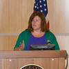 """Michele McKeon offers remarks to those present for US Rep Sean Patrick Maloney's """"When Women Succeed, America Succeeds"""" Forum and Resource Fair Saturday, July 26 at the Orange County Emergency Services Center in Goshen, NY. Hudson Valley Press/CHUCK STEWART, JR."""