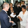 """US Rep Sean Patrick Maloney speaks with people after he hosted """"When Women Succeed, America Succeeds"""" Forum and Resource Fair Saturday, July 26 at the Orange County Emergency Services Center in Goshen, NY. Hudson Valley Press/CHUCK STEWART, JR."""