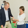 """US Rep Sean Patrick Maloney speaks with Maria Blon after he hosted """"When Women Succeed, America Succeeds"""" Forum and Resource Fair Saturday, July 26 at the Orange County Emergency Services Center in Goshen, NY. Hudson Valley Press/CHUCK STEWART, JR."""