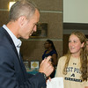 """US Rep Sean Patrick Maloney speaks with Spencer Pavia, who is interested in attending West Point, after he hosted """"When Women Succeed, America Succeeds"""" Forum and Resource Fair Saturday, July 26 at the Orange County Emergency Services Center in Goshen, NY. Hudson Valley Press/CHUCK STEWART, JR."""