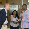"US Rep Sean Patrick Maloney speaks with Azriel Alleyne after he hosted ""When Women Succeed, America Succeeds"" Forum and Resource Fair Saturday, July 26 at the Orange County Emergency Services Center in Goshen, NY. Hudson Valley Press/CHUCK STEWART, JR."