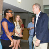 "US Rep Sean Patrick Maloney speaks with people after he hosted ""When Women Succeed, America Succeeds"" Forum and Resource Fair Saturday, July 26 at the Orange County Emergency Services Center in Goshen, NY. Hudson Valley Press/CHUCK STEWART, JR."