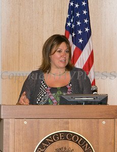 "Faith Moore, Executive Director of OCRDAC, offers remarks to those present for US Rep Sean Patrick Maloney's ""When Women Succeed, America Succeeds"" Forum and Resource Fair Saturday, July 26 at the Orange County Emergency Services Center in Goshen, NY. Hudson Valley Press/CHUCK STEWART, JR."