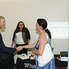 """US Rep Sean Patrick Maloney greets Mary Roth after he hosted """"When Women Succeed, America Succeeds"""" Forum and Resource Fair Saturday, July 26 at the Orange County Emergency Services Center in Goshen, NY. Hudson Valley Press/CHUCK STEWART, JR."""