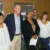 "US Rep Sean Patrick Maloney freets people after he hosted ""When Women Succeed, America Succeeds"" Forum and Resource Fair Saturday, July 26 at the Orange County Emergency Services Center in Goshen, NY. Hudson Valley Press/CHUCK STEWART, JR."