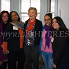 """YWCA Orange County Executive Director Christine Sadowski. Board President Glynis Cowart, City of Newburgh Mayor Judy Kennedy, Jasmin Carino and Laura Garcia pose for a picture as the YWCA Orange County hosted a """"Giving Thanks"""" open house at their new home in the City of Newburgh on Thursday, November 20, 2014. Hudson Valley Press/CHUCK STEWART, JR."""