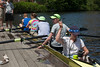 Four - Colin, Noa, Benjamin, coach Kate, Olivia (cox)