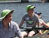 Four back at the dock: Benjamin, coach Kate, Olivia (cox)
