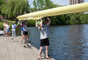Putting Four inthe water - (from front) coach Kate, Benjamin, Noa, Colin