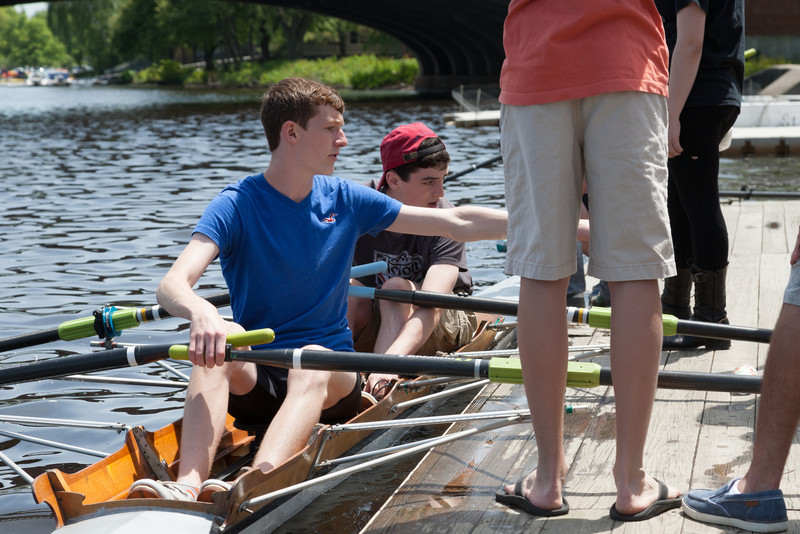 Aiden and rower in a double