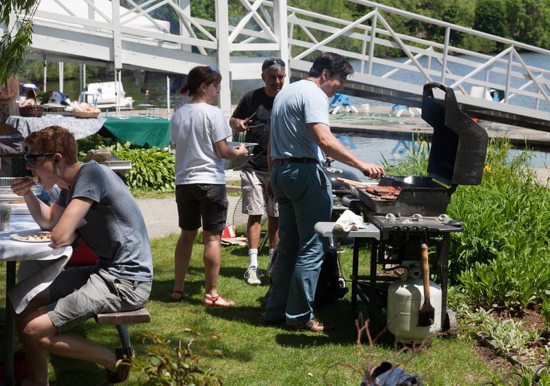 Parents grilling