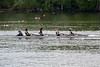 Girls Novice Four approaching the finish line
