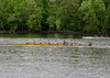 Boys Novice Eight crossing the finish line