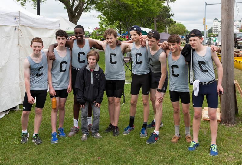 Boys Novice Eight team photo