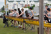 Boys Novice Eight, boat back in sling