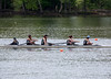 Girls Novice Four crossing the finish line