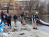 Boys 2V, taking the boat out of the water