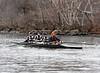 Boys 2V rowing down to the start: Nate, Colin, Simon, and Jordan