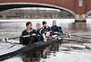 Boys 3V on the water: Jacob, Will E, Ted, Will F, and Will M (cox)