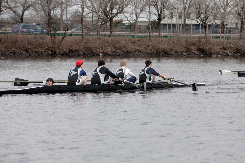 Boys 3V racing, at the catch: Will M (cox), Will F, Ted, Will E, and Jacob