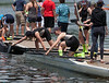 Girls Varsity docked, taking out oars
