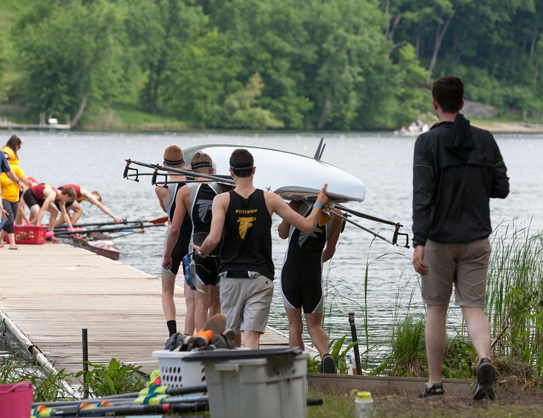 Boys 1V, walking on to the launch dock