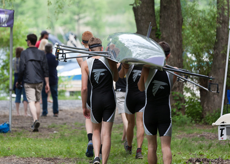Boys 1V, walking boat to the launch