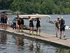 Girls Varsity walking boat off the dock