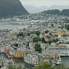 Picturesque overlook of Alesund, Norway