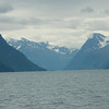 Entering our first fjord of the trip - Alesund