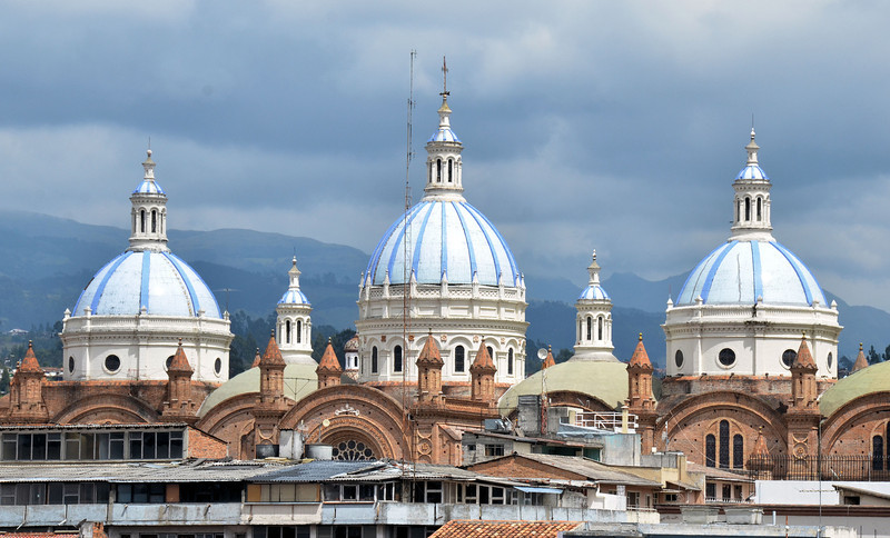 Domes of the New Cathedral, Cuenca Ecuador