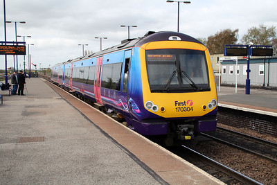 170304 on a Cleethorpes-Manchester Airport service at Barnetby.