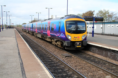 185127 on a Manchester Airport-Cleethorpes service at Barnetby.