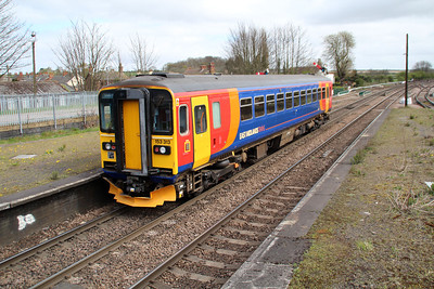 153313 on a Lincoln-Grimsby service at Barnetby.