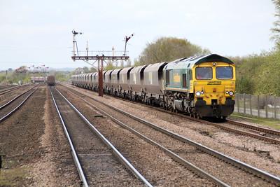 66549 1106/4R14 Hunslett-Humber passes Barnetby.