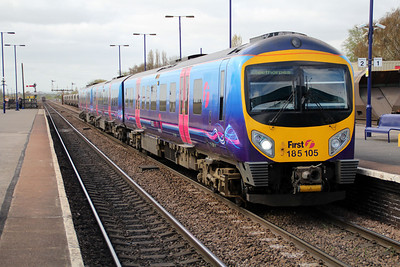 185105 on a Manchester Airport-Cleethorpes service at Barnetby.