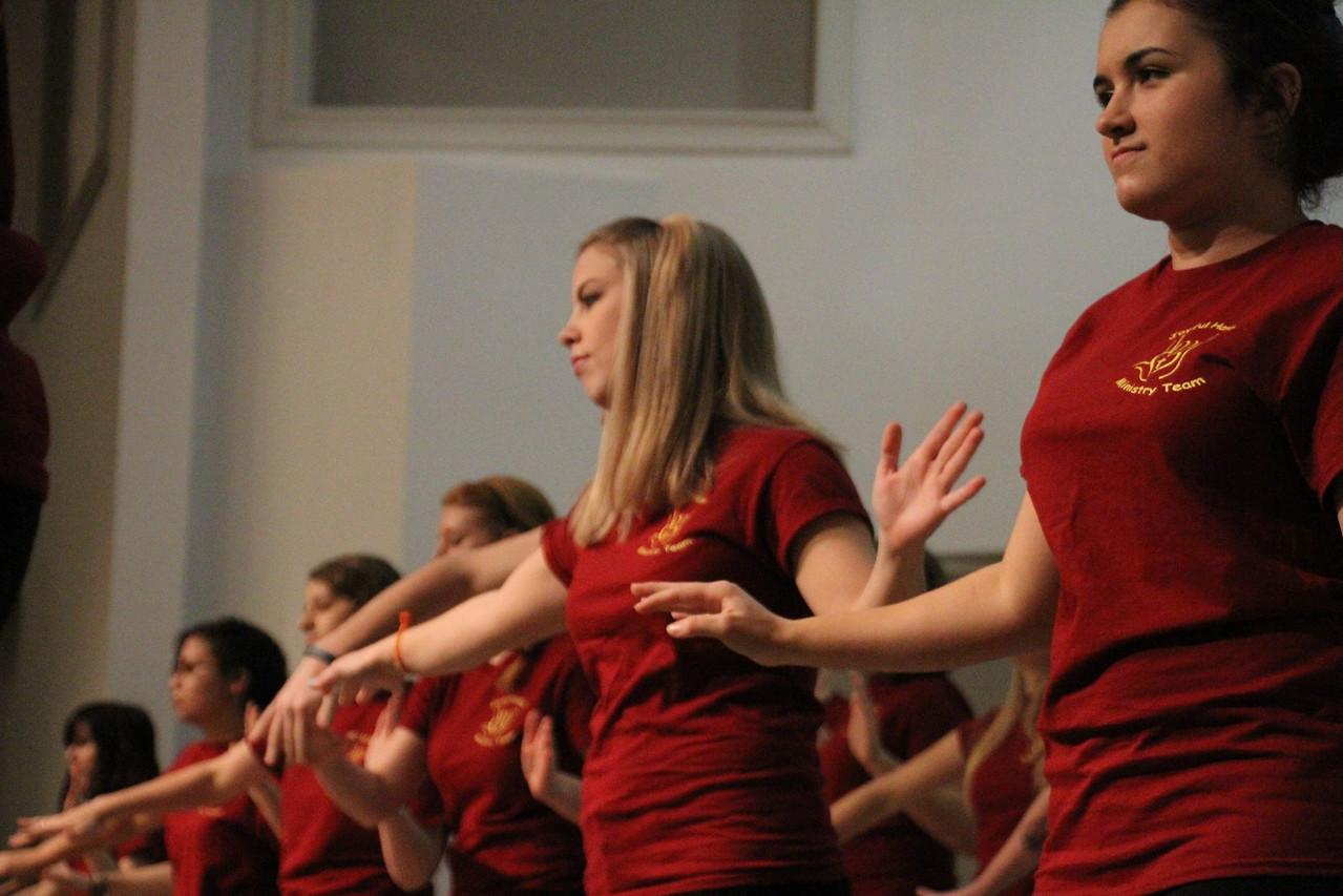 Joyful Hands puts on a Megabash benefit concert including performances by Joyful Hands, Heart of Fire dance ministry, and the Gospel Choir.