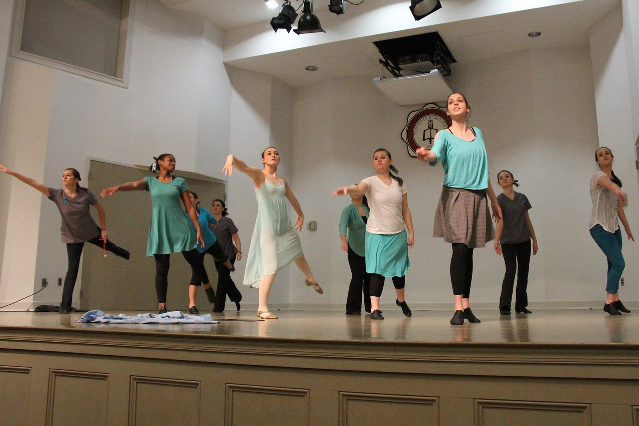 """Joyful Hands puts on a Megabash benefit concert including performances by Joyful Hands, Heart of Fire dance ministry, and the Gospel Choir. Heart of fire performs to the song """"Skyscraper""""."""