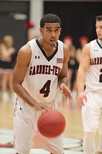 4, Harold McBride, shoots the ball.