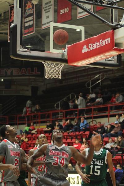 34, Jerome Hill shoots basket.