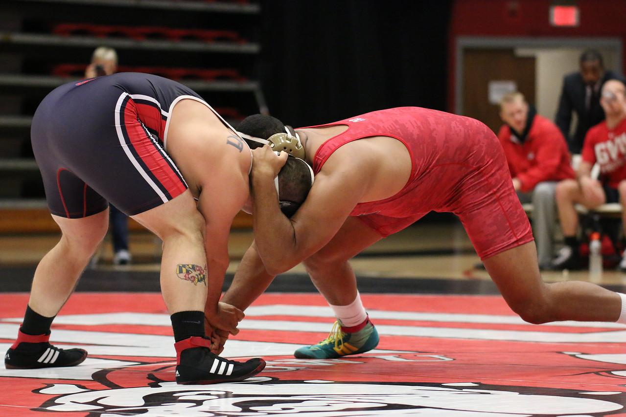 Wrestling 285 – Juan Adams (VMI) dec. Justin Kozera , 2-1 – 31-9
