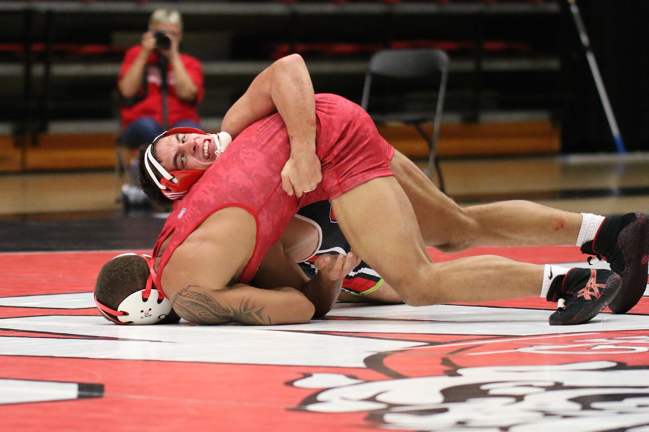 Wrestling 174 – Mark Darr (VMI) dec. Christian Maroni (GWU), 8-7 – 23-6