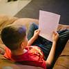 JOED VIERA/STAFF PHOTOGRAPHER-Lockport, NY-A bullied student does his homework. Thursday, December 4, 2014.